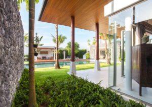 Detalle Exterior Jardin casa en Marbella - Trabajos GSC