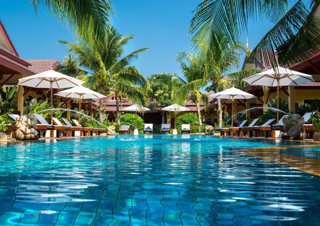 Piscina hotel Marbella - Trabajos GSC