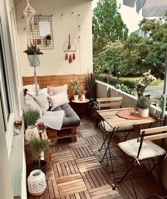 balcon con tarima