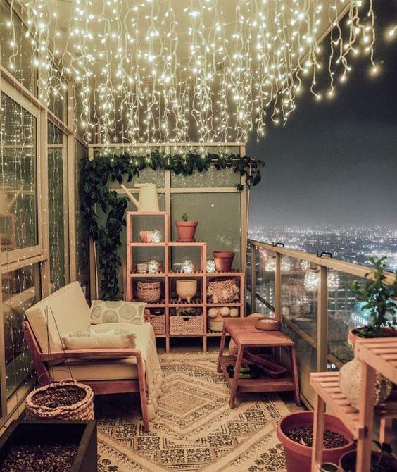 balcon iluminado
