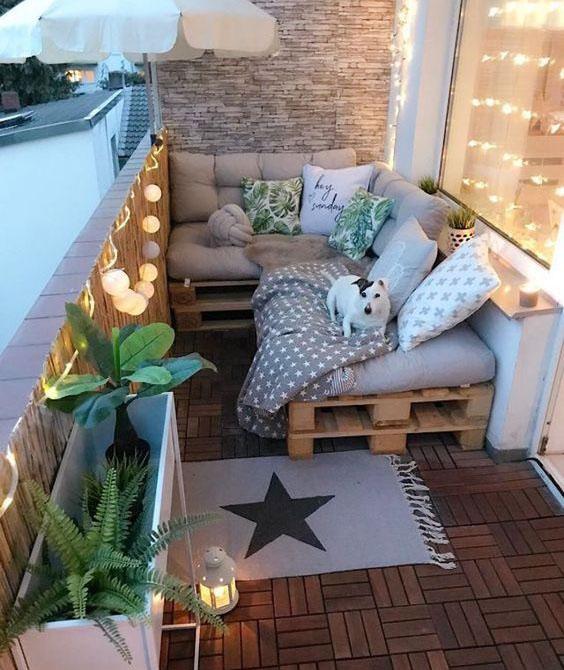 balcon con bombillas