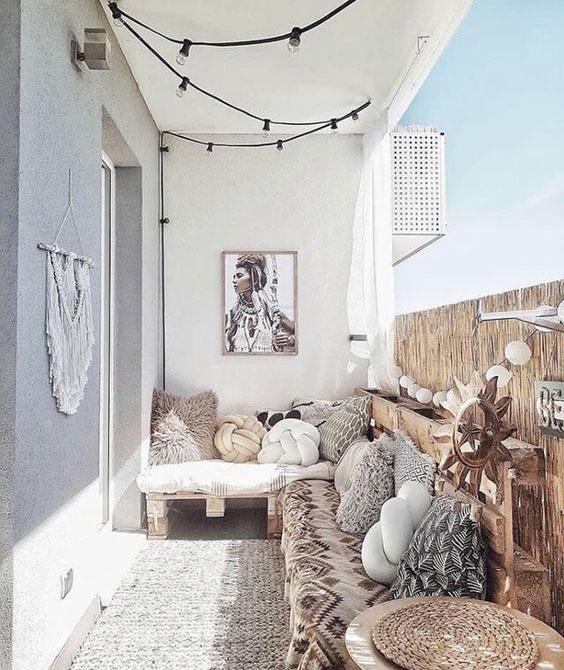 balcon con cojines