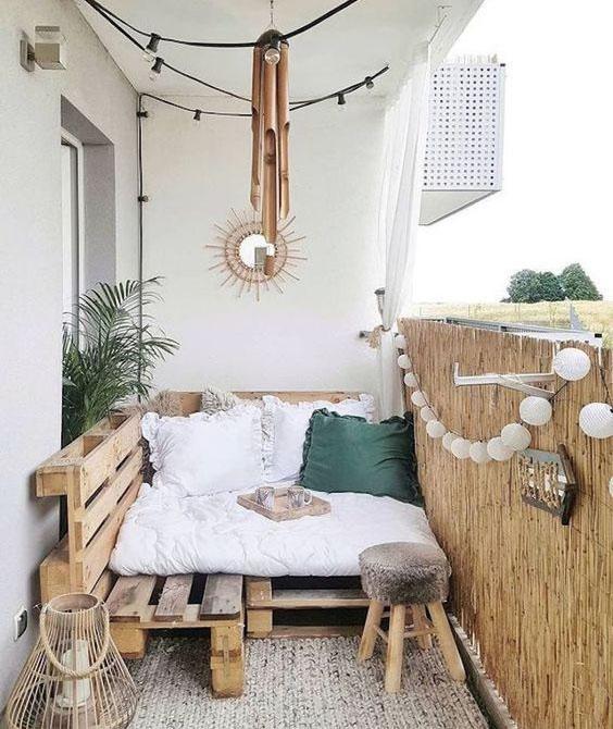 balcon con palets