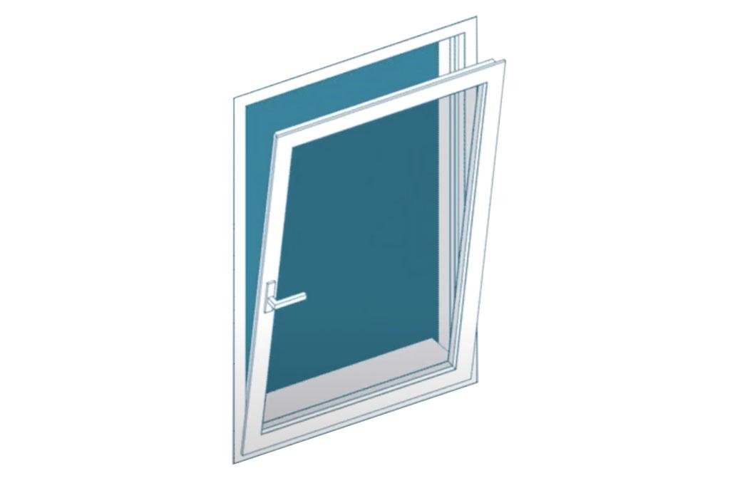 ventana batiente inferior