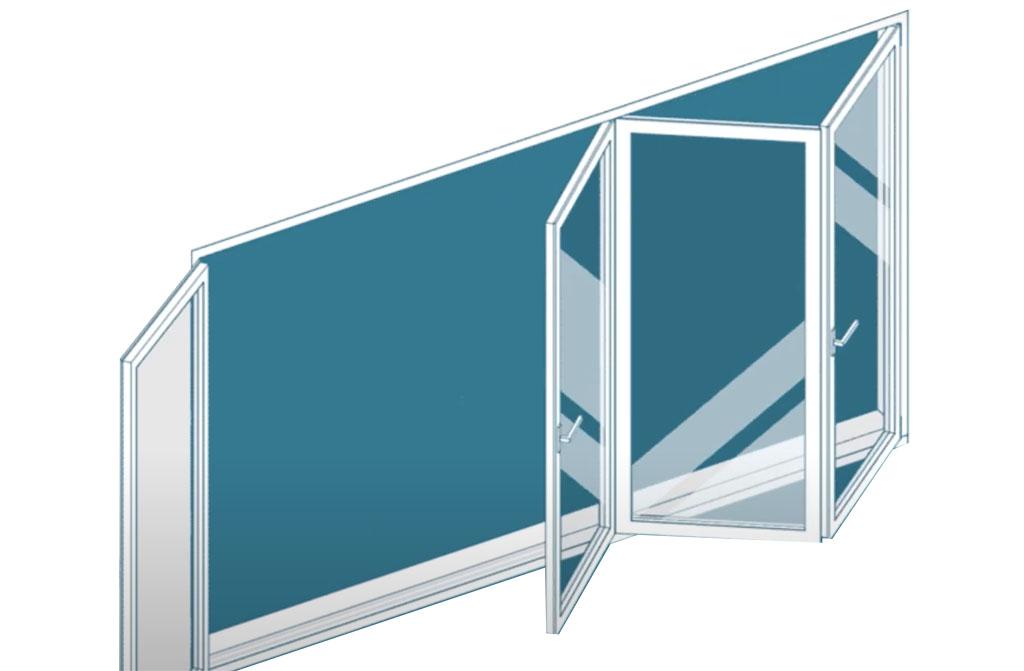 ventana plegable